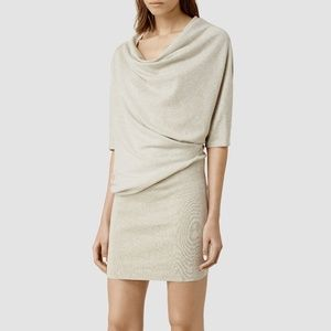 Allsaints gray Tilda sweater dress size large